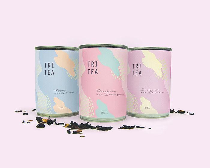 Pastel Tea Packaging