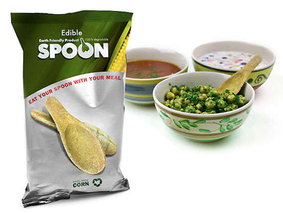 Tasty Flavorful Edible Spoons