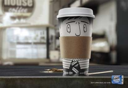 Cup Illustration Ads