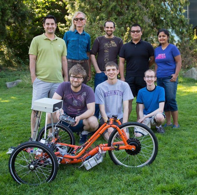 Futuristic Self-Driving Trikes