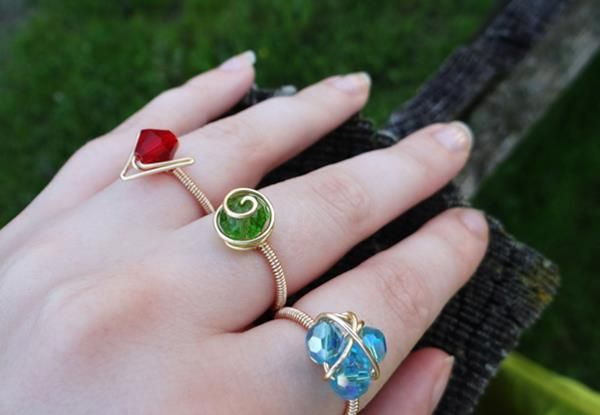 Elemental Crystal Rings