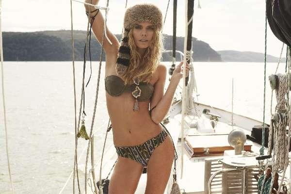 Embellished Nordic Swimwear