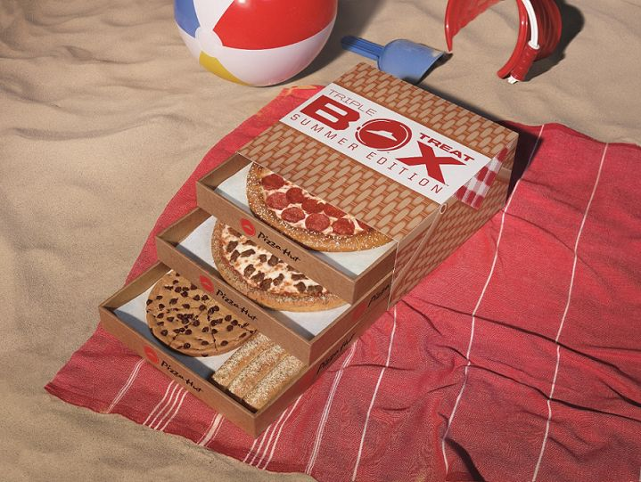 Seasonal Tiered Pizza Boxes