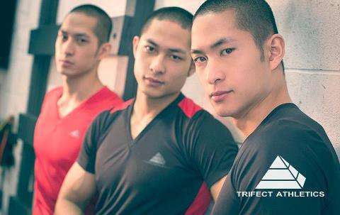 triplets athletic gear gym