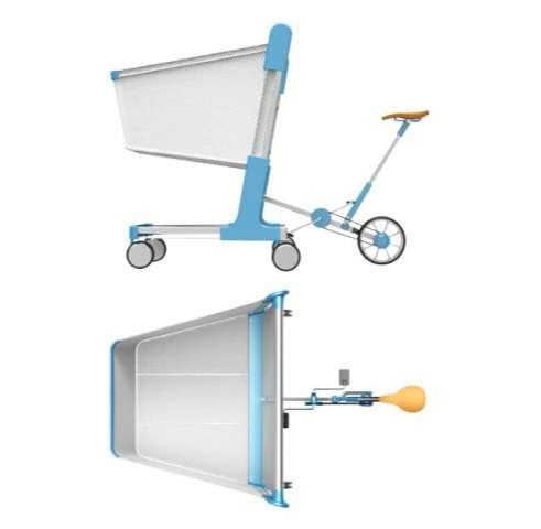 Pedal-Powered Shopping Carts