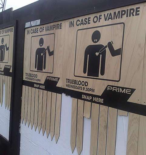 Vampire Self-Defense Posters