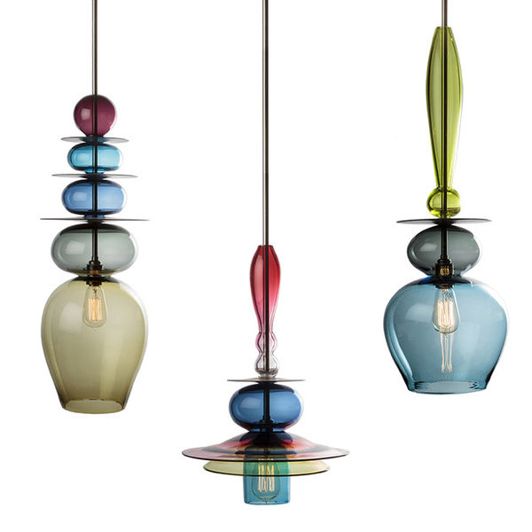Eccentric Glass Chandeliers