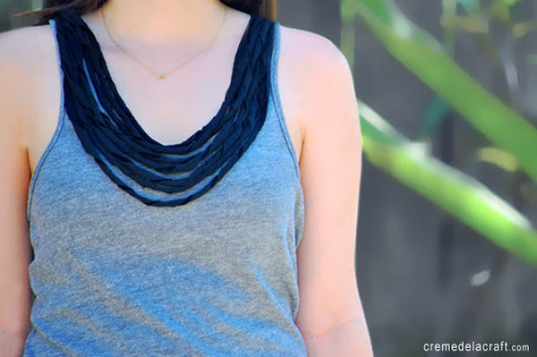 Twisted T-Shirt Necklaces