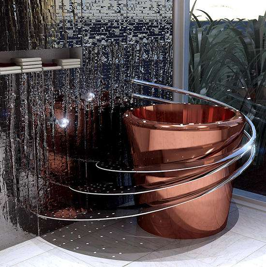 Bucket-Shaped Bathtubs