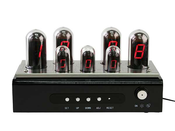 Vacuum Tube Desk Clocks