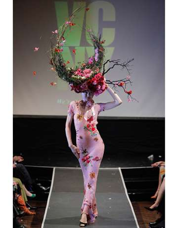 Giant Floral Headdresses