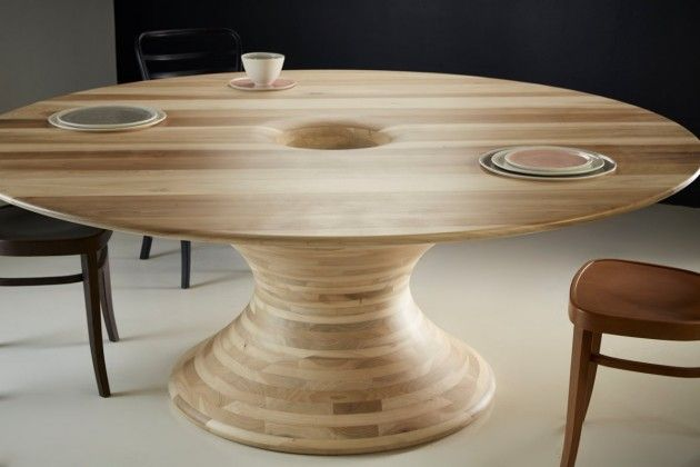 Dramatically spherical tables tulipwood table - Alinea tables basses ...