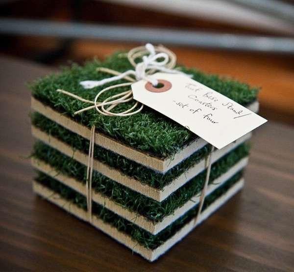 Grassy Turf Coasters