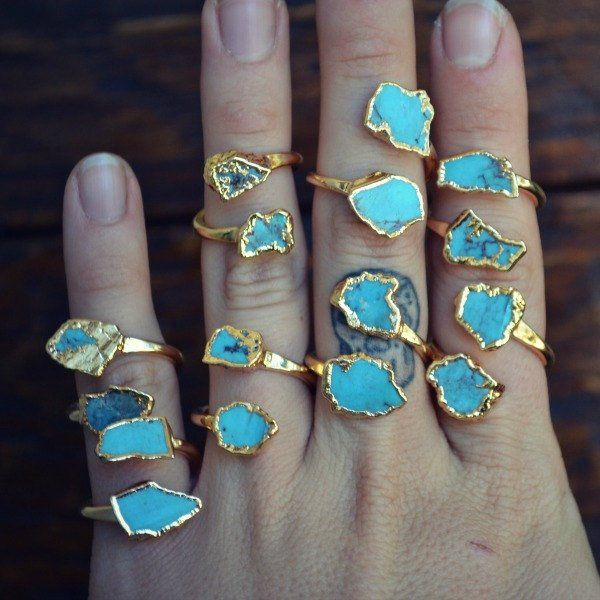 Ascending Turquoise Rings