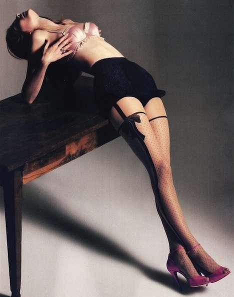 Bow-Print Stockings