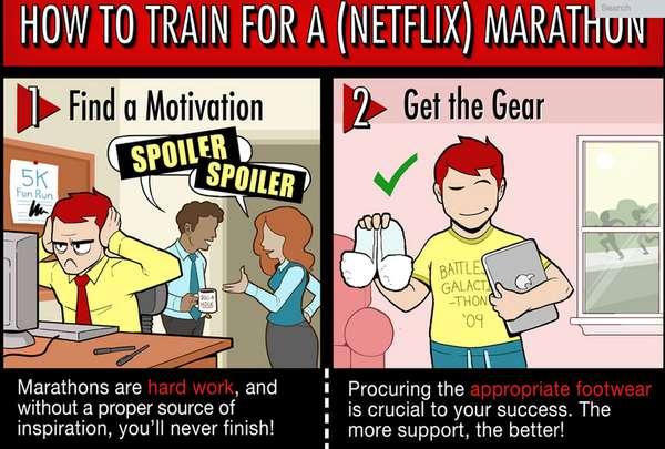 TV Marathon Comic Strips