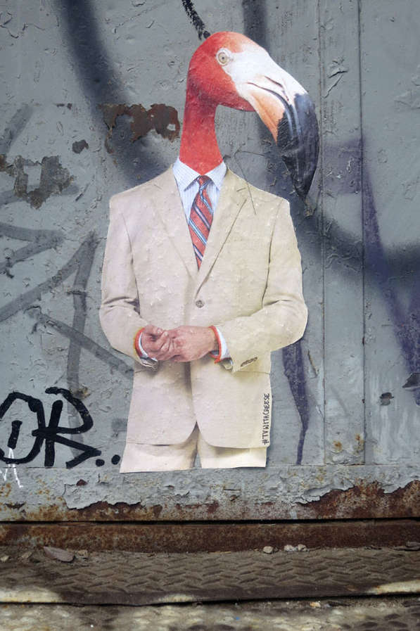 Suited Animal Street Art