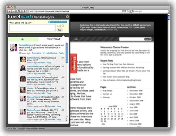 Twitter Message Boards