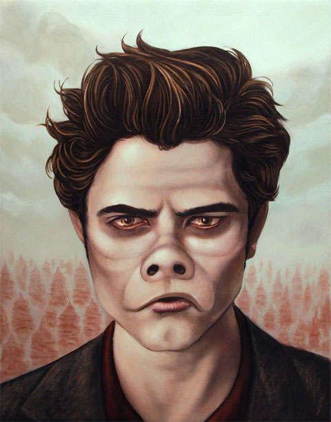 Pig-Infused Vampire Portraits