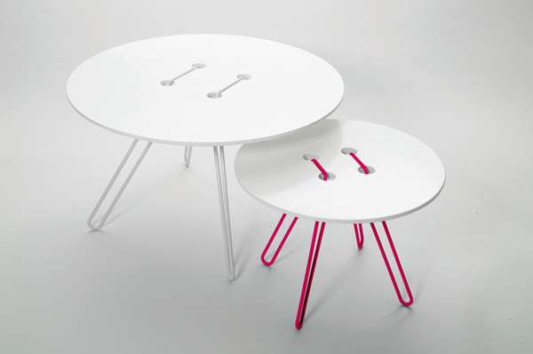 Button-Top Tables