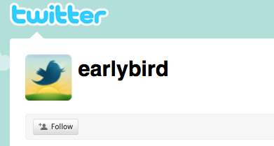 twitter launched the earlybird account