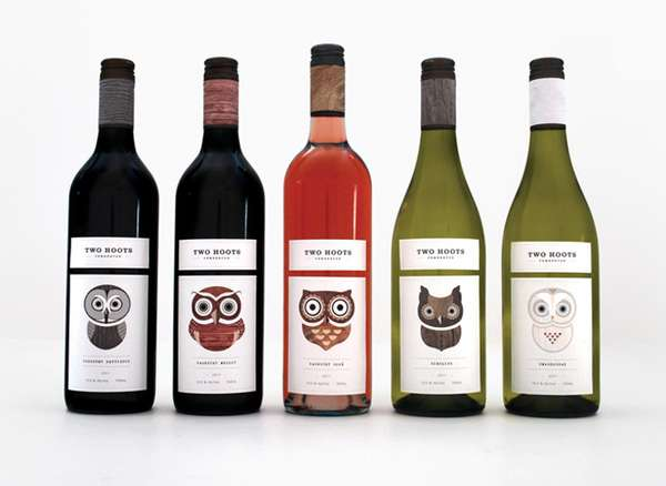 Emotive Owl Wine Bottles