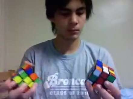 Two Rubiks Cubes Solved At Once