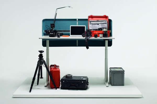 Private Height-Adjustable Desks