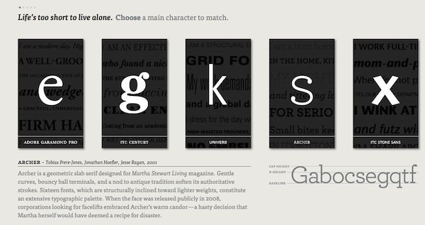 Educational Typographic Dating Websites