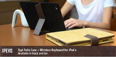 Typi Folio Case and Wireless Keyboard for iPad2