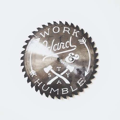 Typographic Saw Blade Art