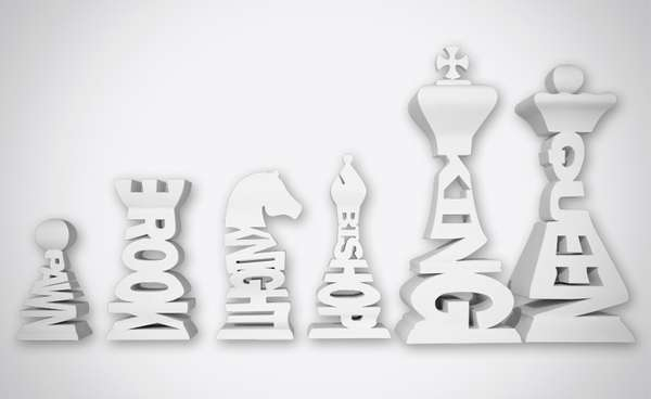 Typographical Chess Set