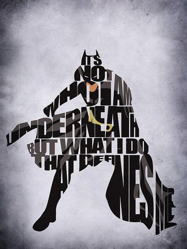 Bold Typographic Superhero Posters