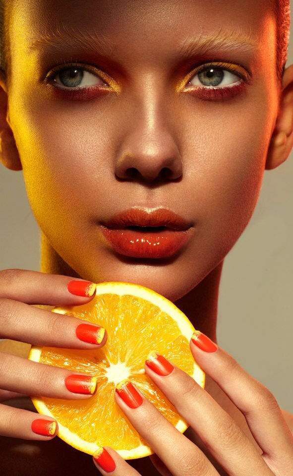 Fiery Fruity Beauty Editorials Uce Magazine Burned Earth