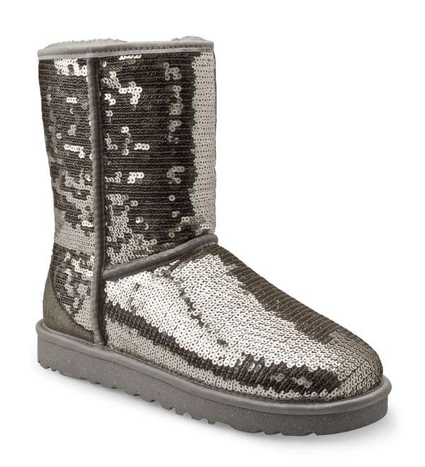 Shimmering Winter Footwear
