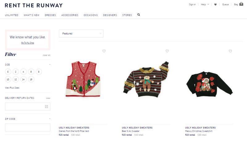 Festive Sweater Rentals
