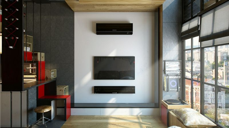 High-Ceiling Micro Apartments