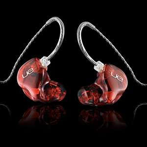 Faux Ruby Earbuds