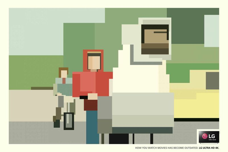 Pixelated Television Ads