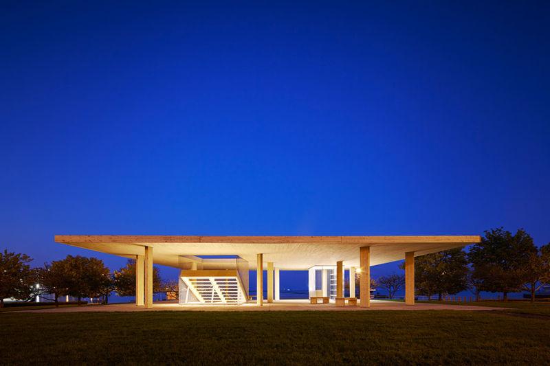 Wooden Flat-Roof Pavilions