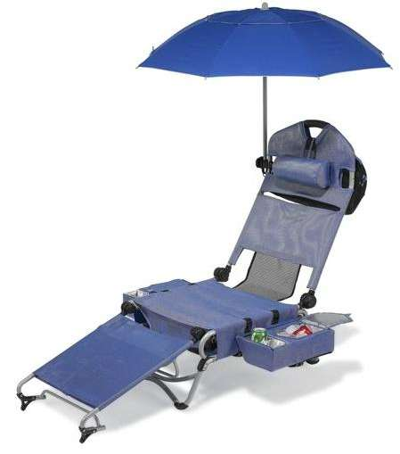 Transforming Suitcase Parasol Loungers