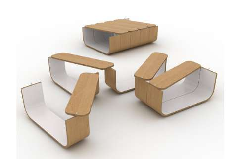Flexible Accordion Furnishings