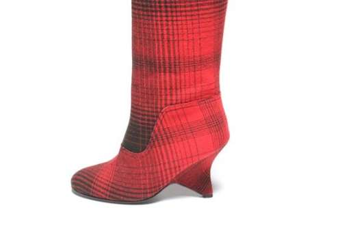 under cover plaid boots