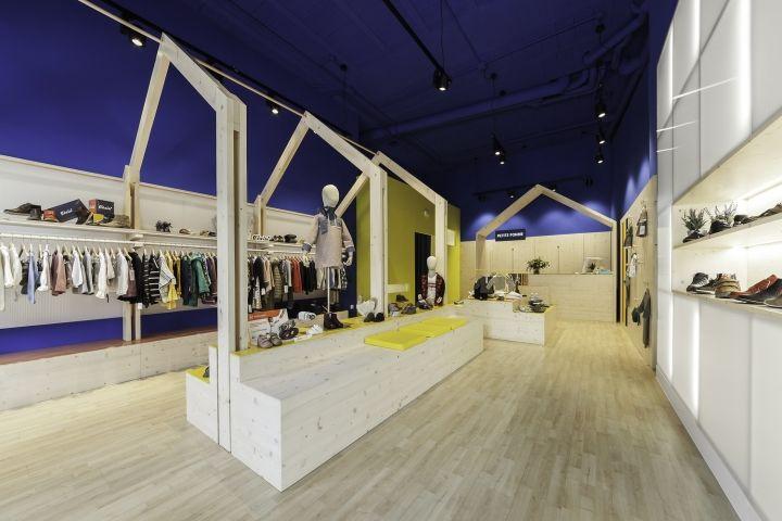 Chromatic Clothing Store Interiors