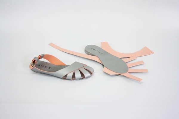 Delicately Folded Footwear