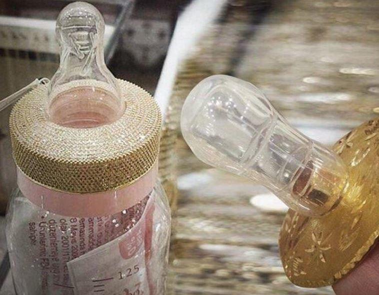 Gold Encrusted Baby Bottles Unique Baby Bottles