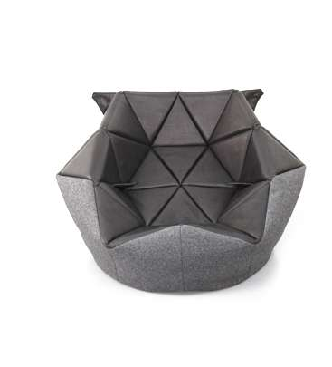 geometrically structured slumped seating unique bean bag