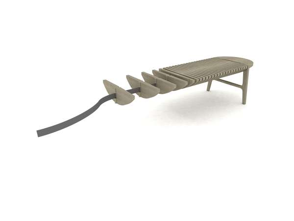 Flexible Centipede-Like Benches