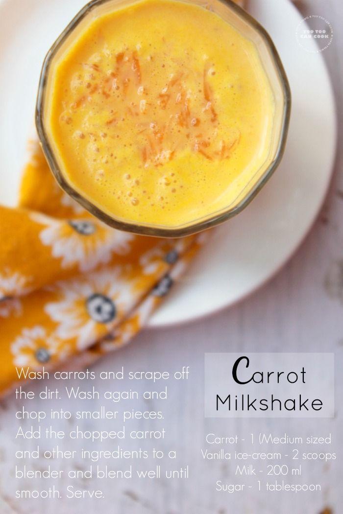 Tantalizing Carrot Milkshakes