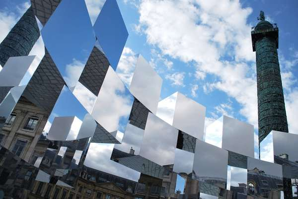 Unique Mirror Cube Art Installation